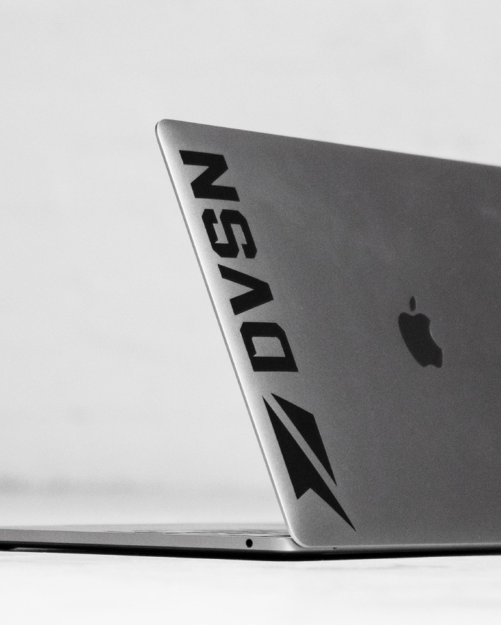 DVSN - Black Sticker Logo - Side
