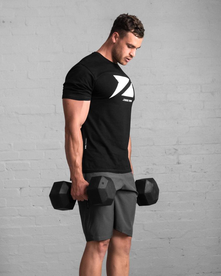 DVSN Men's Icon Tee Black - Front - Dumbbell Carry