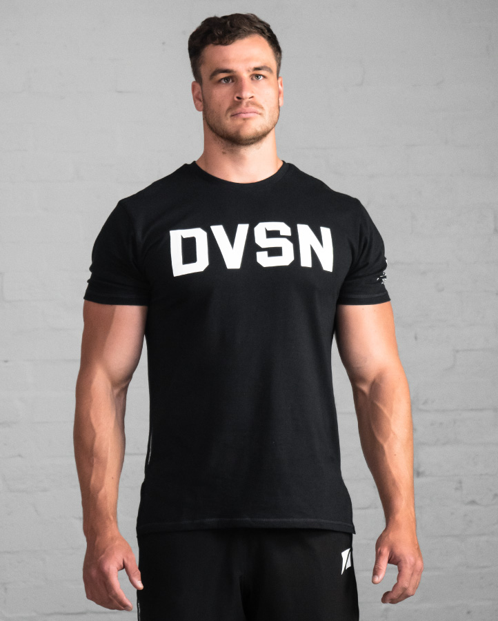 DVSN Men's Logo Shirt - Black - Front View