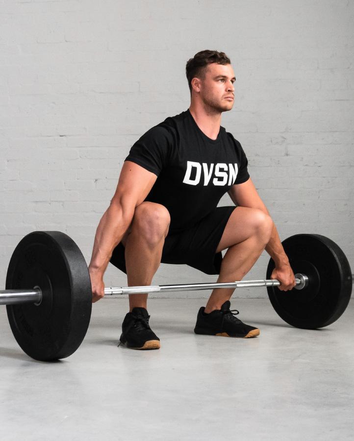 DVSN Men's Logo Tee Black - Snatch Position