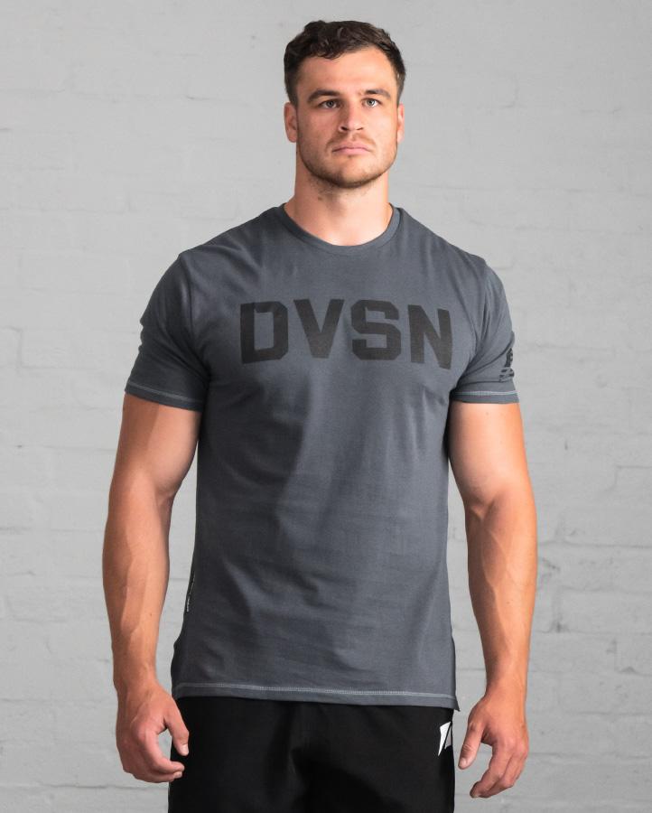 DVSN Men's Logo Tee Slate - Front View