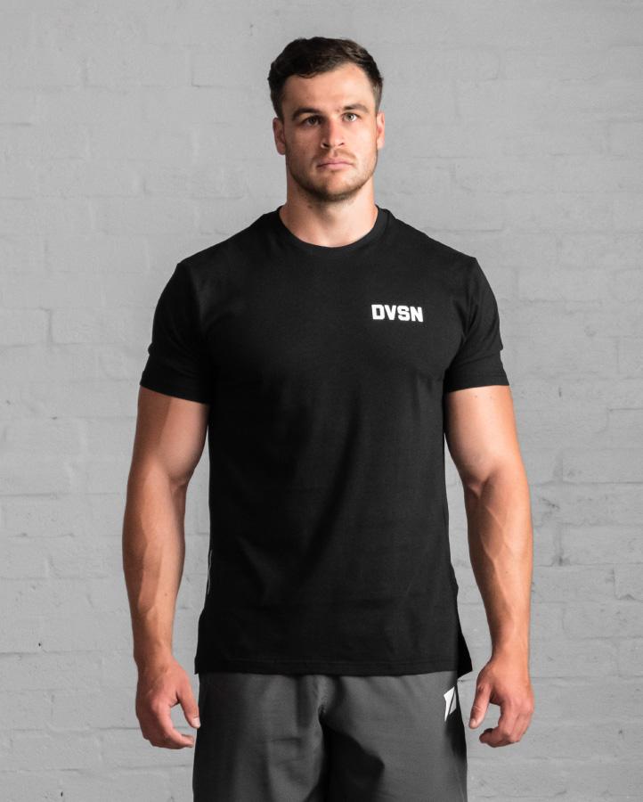 DVSN Men's Street Tee Black - Front